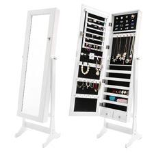 Demelza Lockable Jewellery Cabinet & Mirror