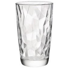 Diamond Faceted Hi Ball Glasses (Set of 6)