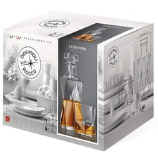 Cassiopea Whisky Glasses & Decanter Set