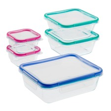 10 Piece Total Solution Pyrex Glass Food Storage Set