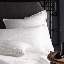 White Chinese Key Cotton European Pillowcase