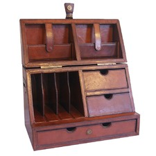 Tan Leather Stationery Box