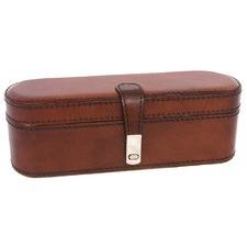Tan Leather Travel Jewellery Box