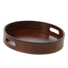 Tan Leather Leather Tray