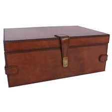 Tan Leather Large Jewellery Box