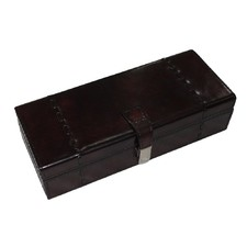 Dark Leather 3 Watch Box