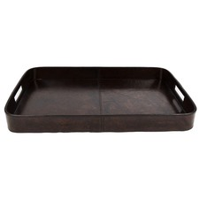 Dark Leather Tray