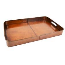 Tan Leather Tray