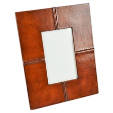 Tan Leather Photo Frame