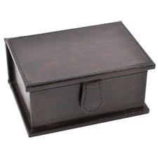 Dark Leather Business Card Holder