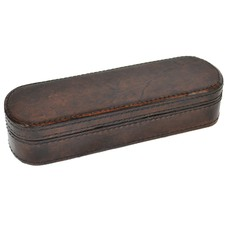 Dark Leather Pen Case