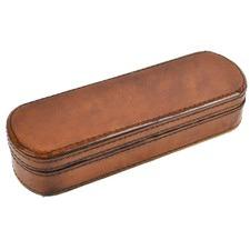 Tan Leather Pen Case