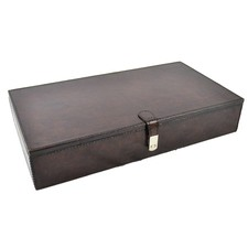 Dark Leather Jewellery Box