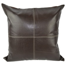 Brown Leather Cushion Cover