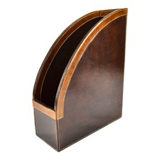 Genuine Leather Magazine Stand