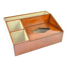 Genuine Leather Desk Organiser