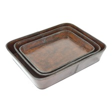 Genuine Leather Coin Trays (Set of 3)