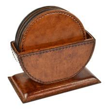 Genuine Leather Round Coasters
