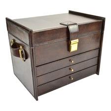 4 Rack Genuine Leather Jewellery Box
