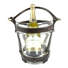 Genuine Leather Wine Chiller Glass