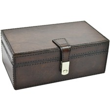 Rectangular Leather Jewellery Box