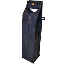 Blue Novellino Leather Single Wine Carrier