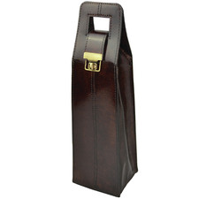 Musigny Leather Single Wine Carrier