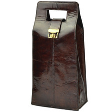 Musigny Leather Double Wine Carrier