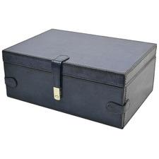 Blue Pandora Leather Jewellery Box