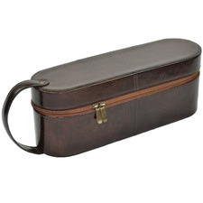 Margaux Leather Single Wine Carrier