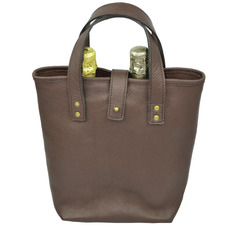 Chambertin Leather Double Wine Carrier