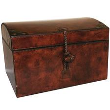 Dark Brown Allaneve Leather Storage Box