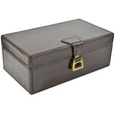 Medium Leather Box with Stirrup