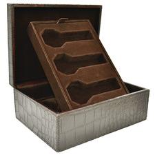 Leather 6 Watch Holder Box