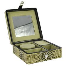Snake Print Leather Travel Jewellery Box