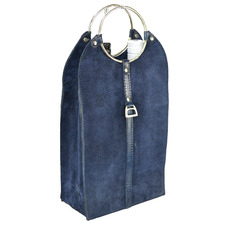 Anaiya Suede Leather Double Wine Bottle Carrier
