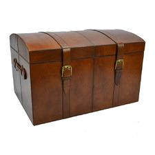 Tan Buffalo Leather Treasure Chest