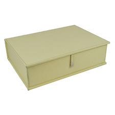 Cream Buffalo Leather Document Box