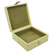Cream Buffalo Leather Jewellery Box