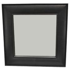 Sheena Square Buffalo Leather Mirror