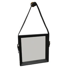 Sheena Square Buffalo Leather Wall Mirror
