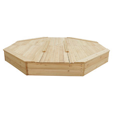 Action Bounce Octagonal Wooden Sandpit with Cover