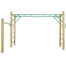3m Amazon Wooden Monkey Bar Set