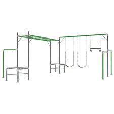 428cm Junior Jungle Steel Playground Set