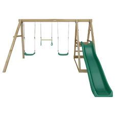 Lifespan Kids Winston 4-Station Wooden Swing Set with Slide