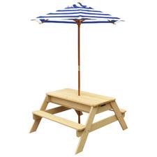 Lifespan Kids Sunrise Sand & Water Picnic Table with Umbrella
