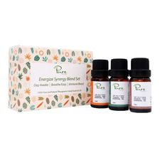 3 Piece Pure by Alcyon Energize Synergy 10ml Oil Blend Set