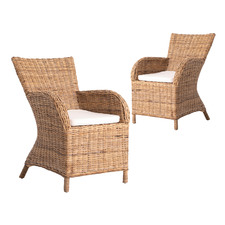 Twynam Rattan Dining Chairs (Set of 2)
