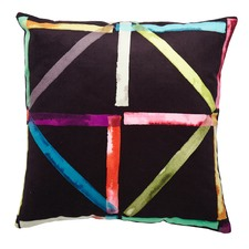 Black Patchwork Velvet Cushion