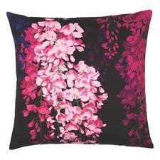 Fuchsia Wisteria Velvet Cushion